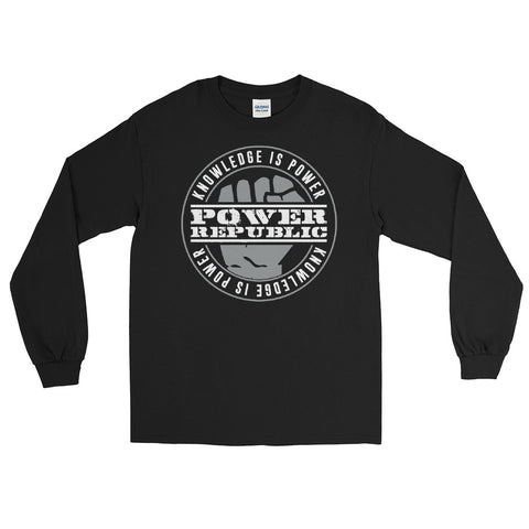 POWER REPUBLIC KNOWLEDGE IS POWER LONG SLEEVE TEE SHIRT