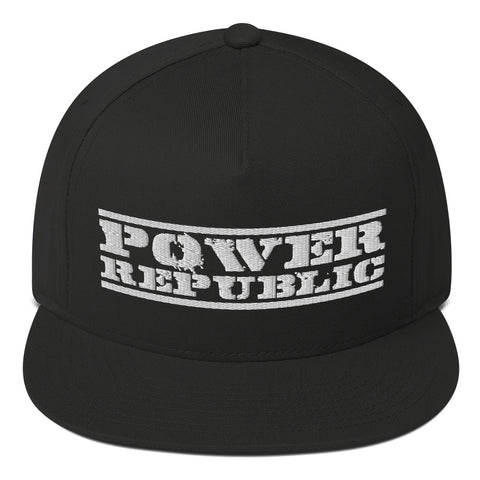 POWER REPUBLIC ORIGINAL LOGO FLAT PEAK CAP