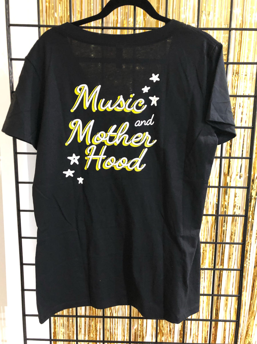 Music and Motherhood Deep V Neck Tee Size M (As-Is #30)