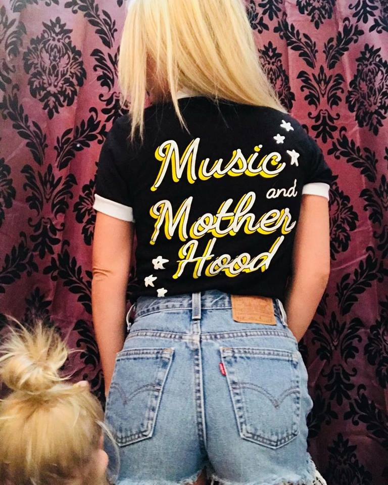 Music and Motherhood Ringer Tee Size L (As-Is #56)
