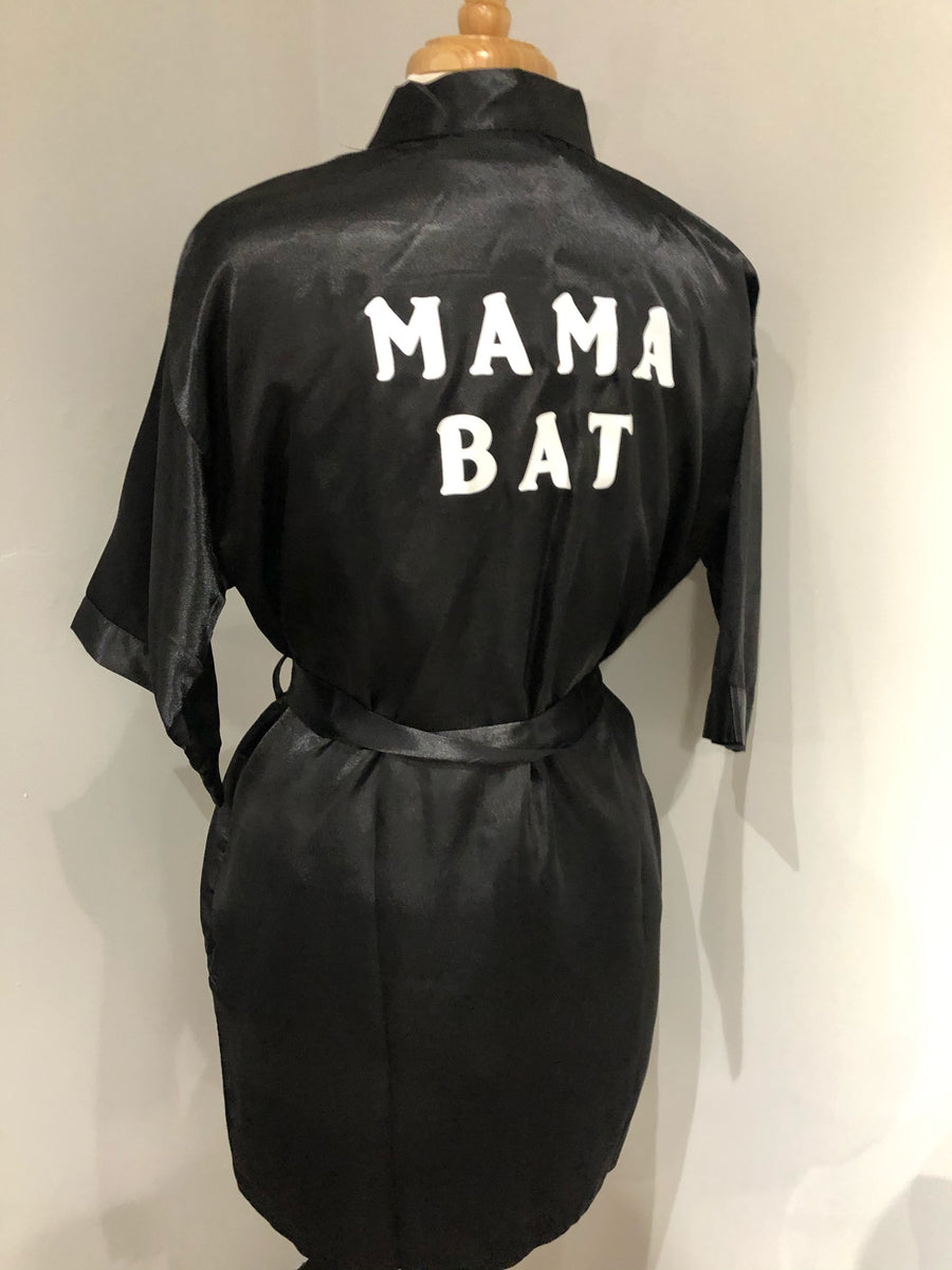 Mama Bat Satin Robe S (As-Is #7)