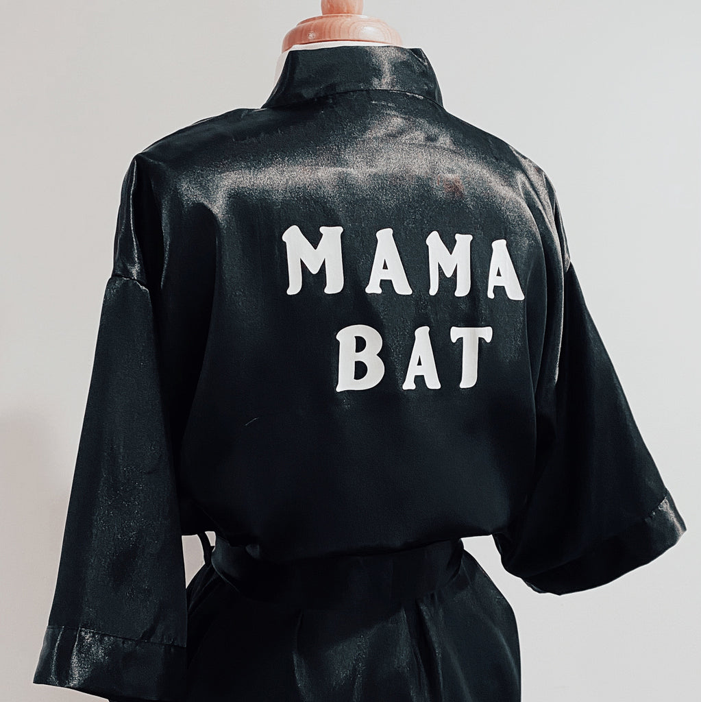 Mama Bat Satin Robe