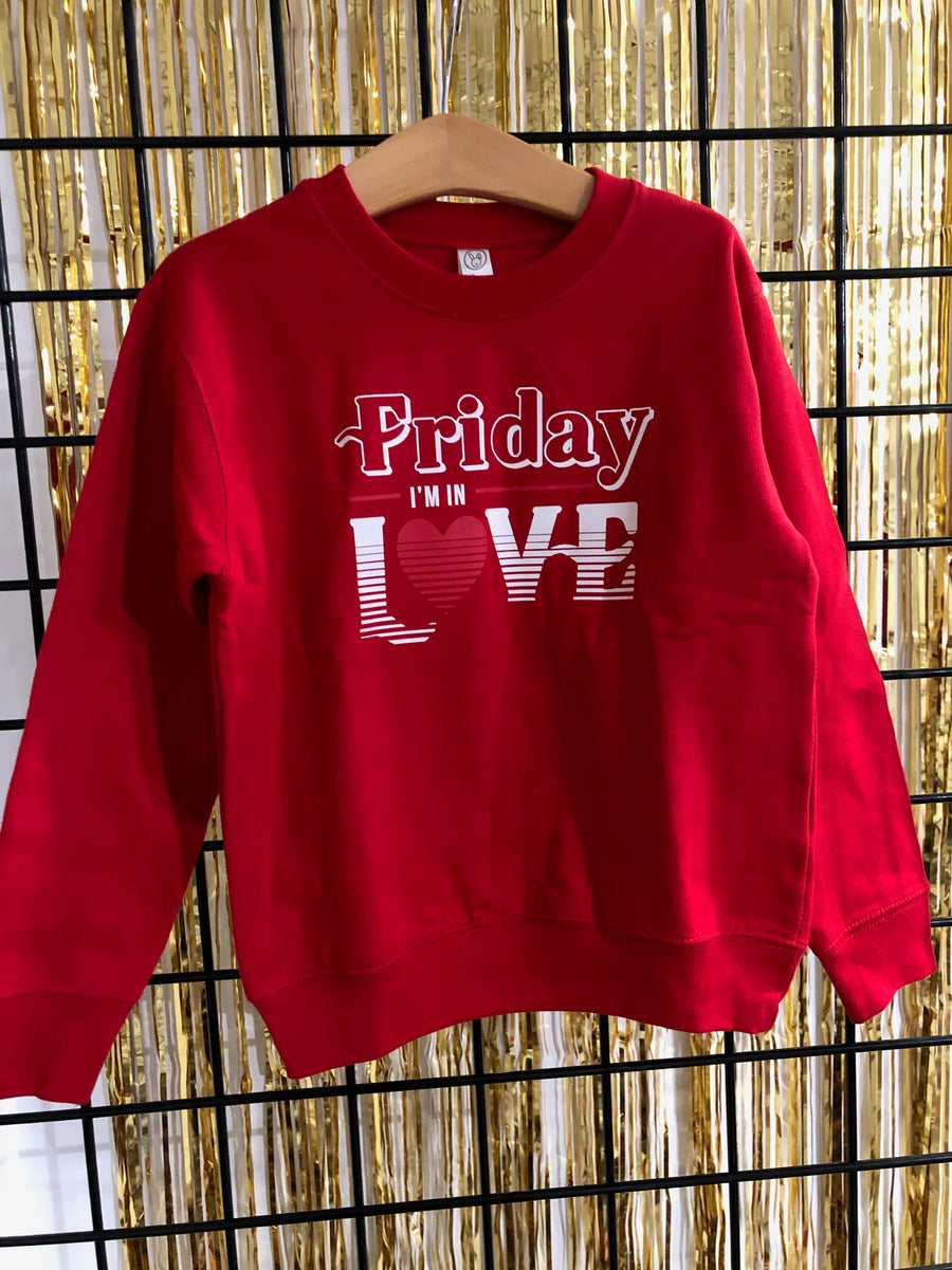 Friday I'm in Love Sweatshirt Kids Size 5/6 (As-Is #51)