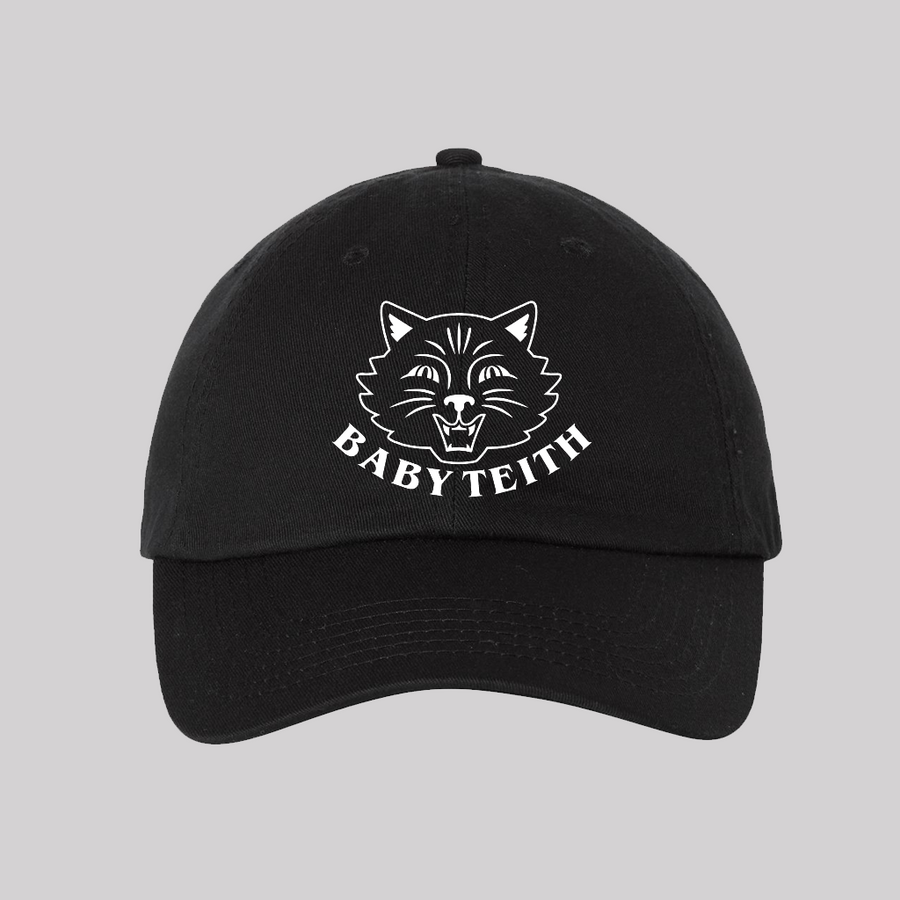 Baby Teith Black Cat Hat | Adults or Kids