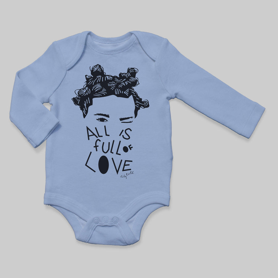 """All is Full of Love"" Long Sleeve Baby Bodysuit - Baby Teith"