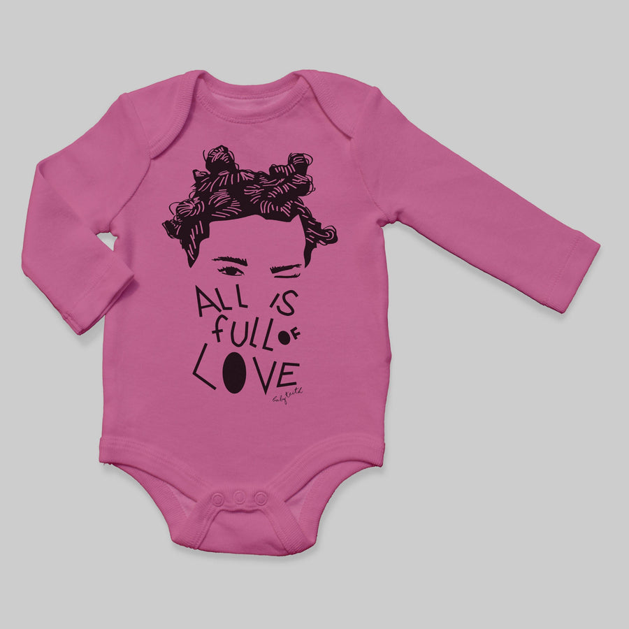 """All is Full of Love"" Long Sleeve Baby Bodysuit"