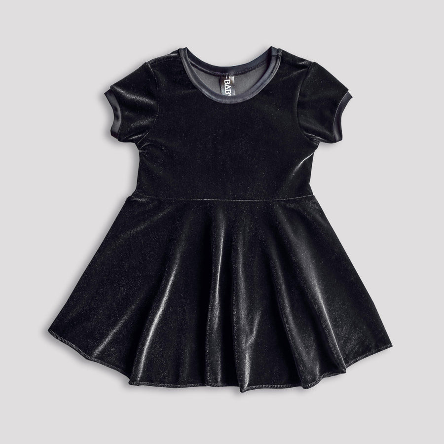 Black Heart Velvet Skater Dress