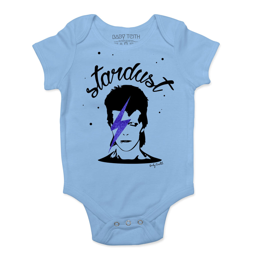"""Stardust"" Baby Bodysuit in Blue"