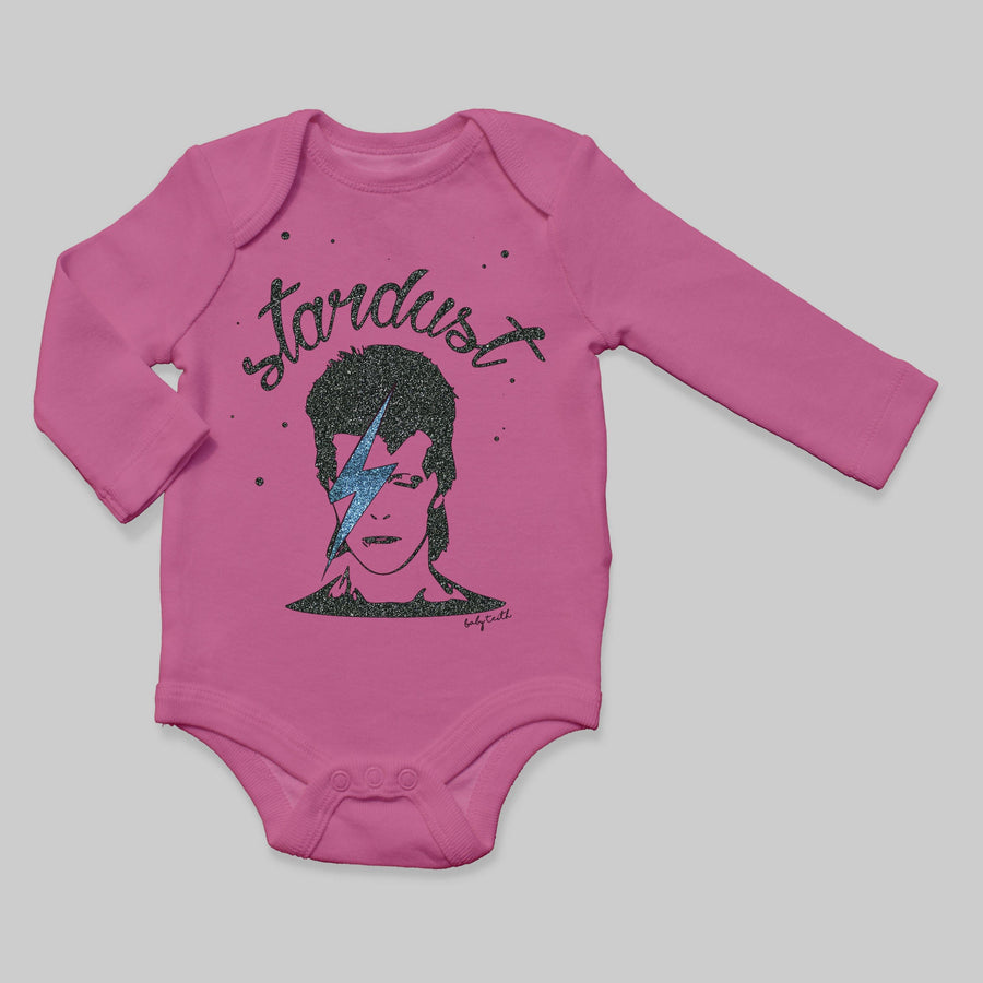 """Stardust"" Long Sleeve Baby Bodysuit"