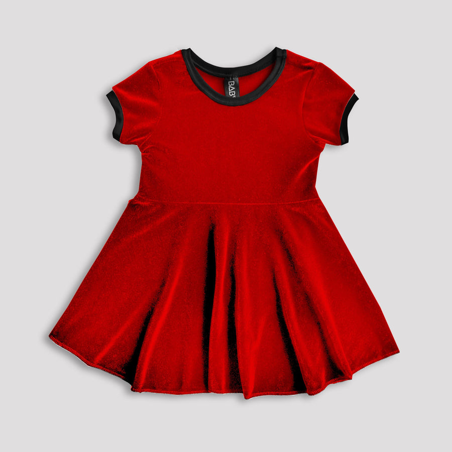 Rose-Red Velvet Dress