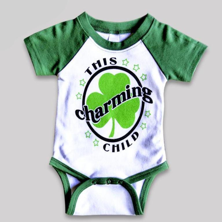 """This Charming Child"" Raglan Bodysuit for Babies"