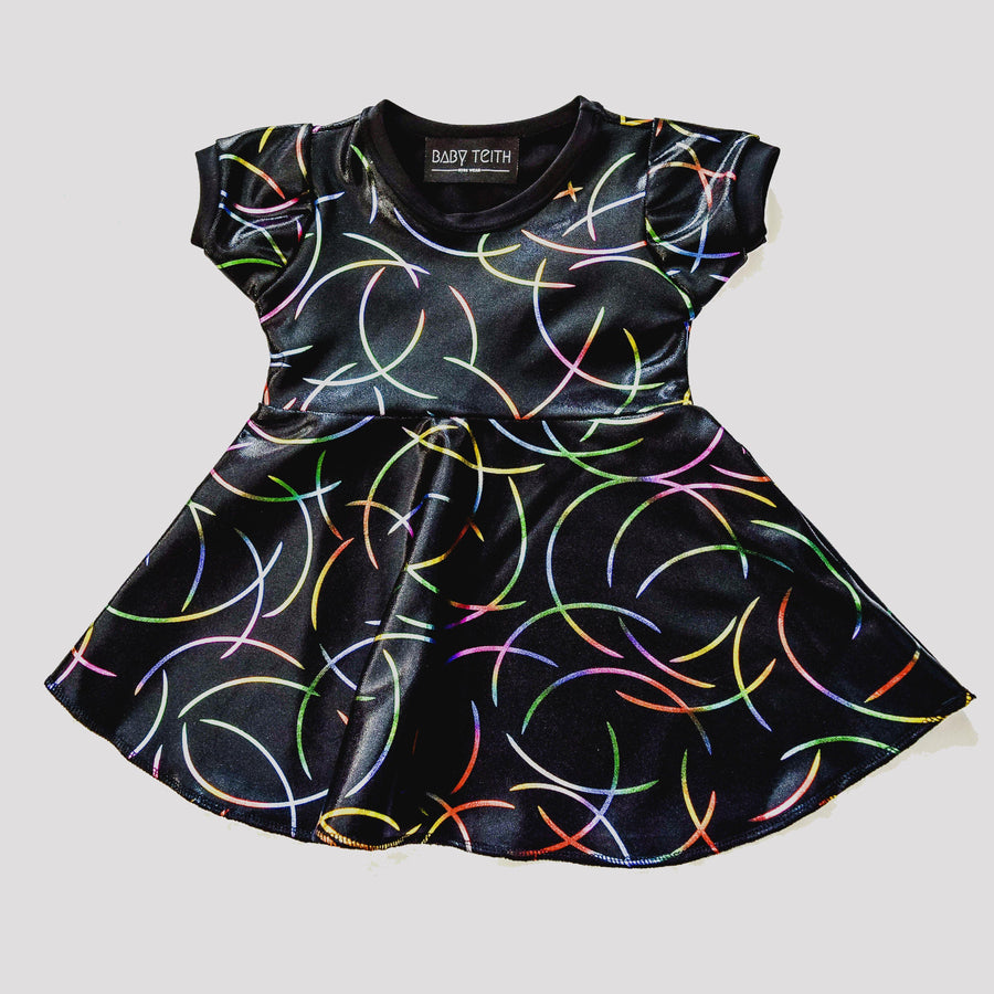 Chromatic Rainbow Skater Dress