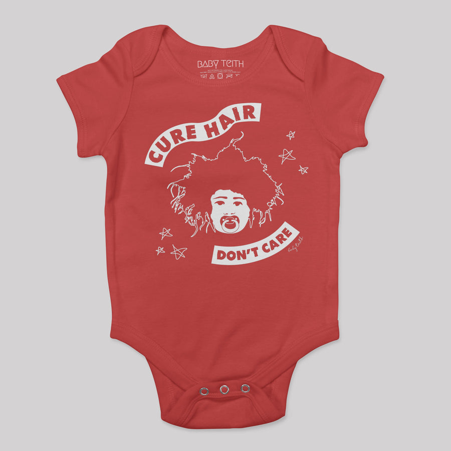 """Cure Hair Don't Care"" Bodysuit for Babies - Baby Teith"