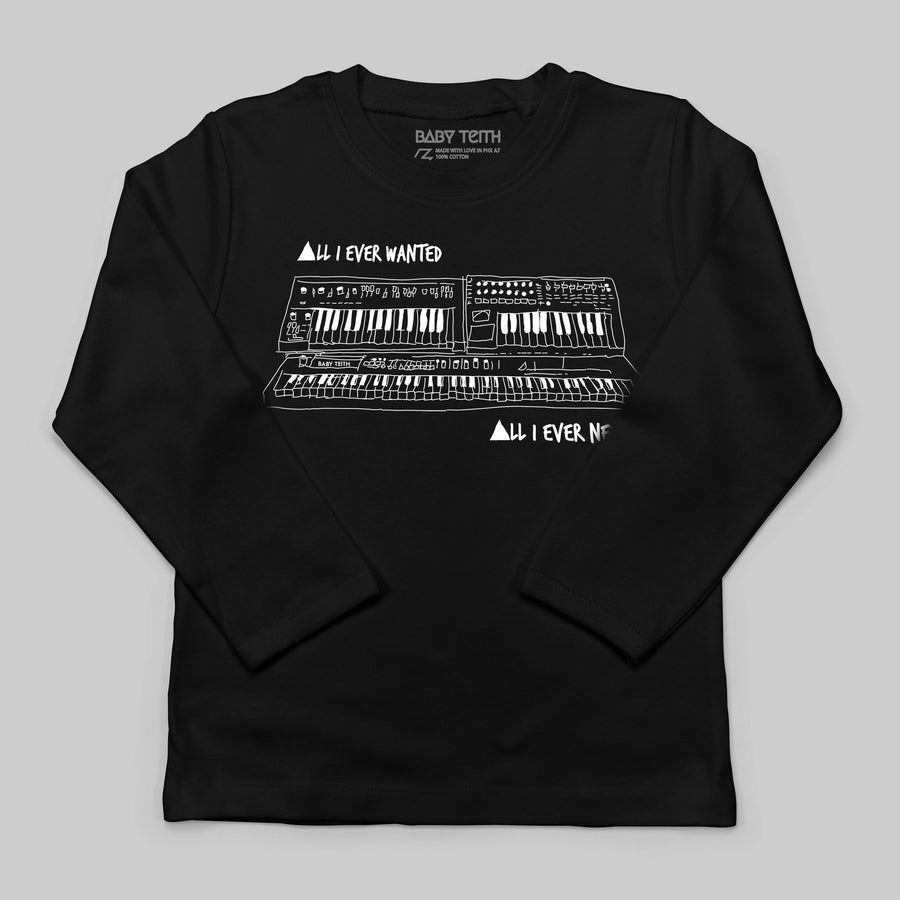 """All I Ever Wanted"" Synth Long Sleeve Tee for Kids"