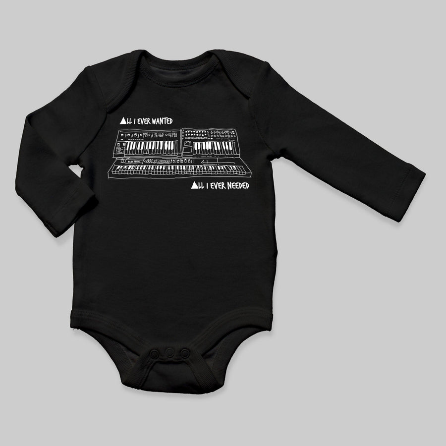 """All I Ever Wanted"" Long Sleeve Bodysuit Inspired by Depeche Mode - Baby Teith"