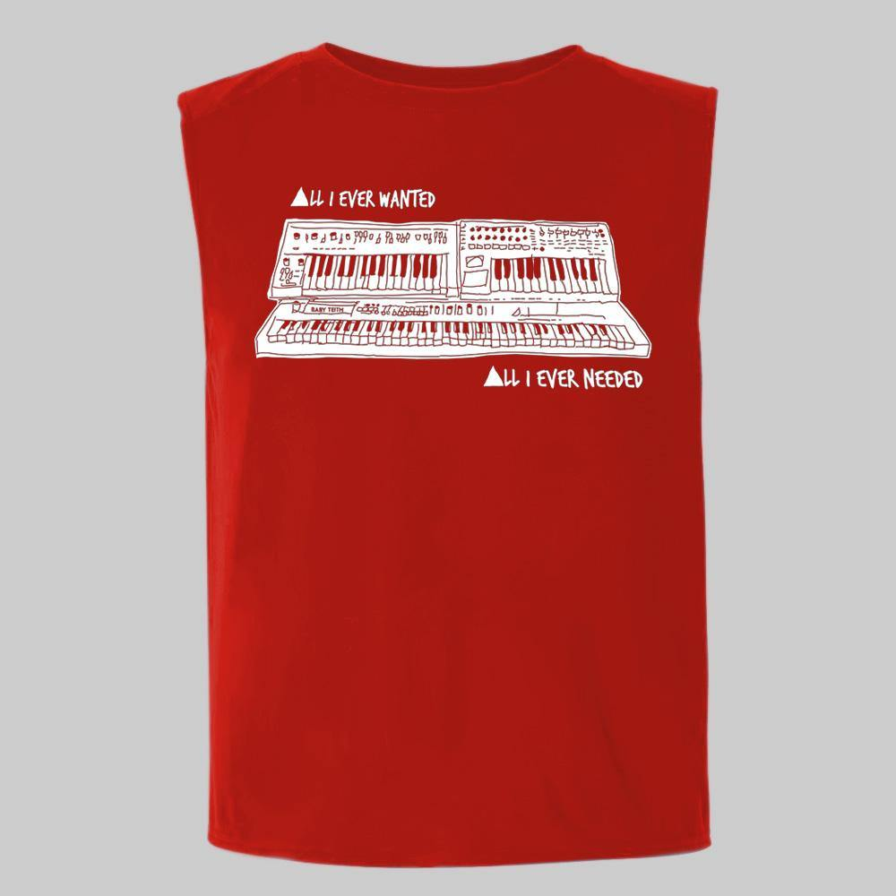 """All I Ever Wanted"" Red Sleeveless Tee for Kids"