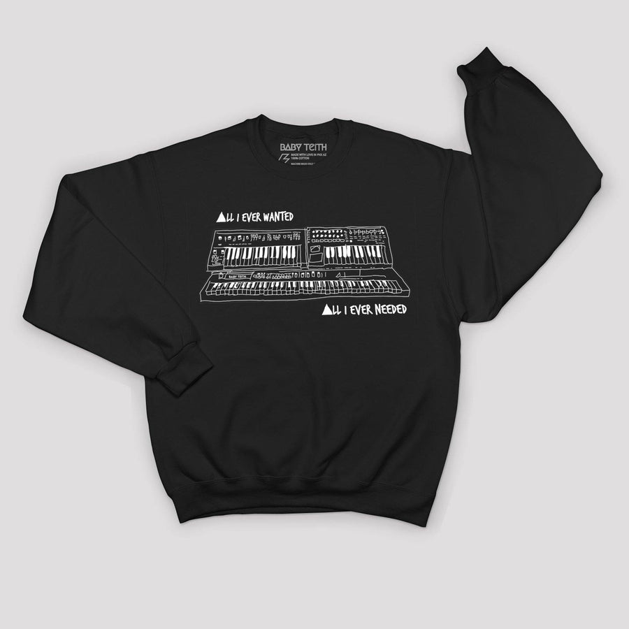 """All I Ever Wanted"" Synth Sweatshirt for Kids - Baby Teith"