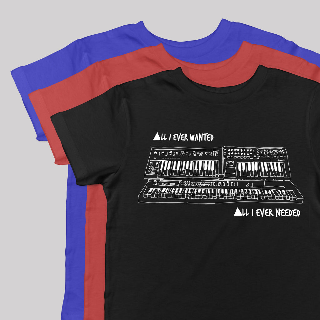 """All I Ever Wanted"" Synth tee Inspired by Depeche Mode - Baby Teith"