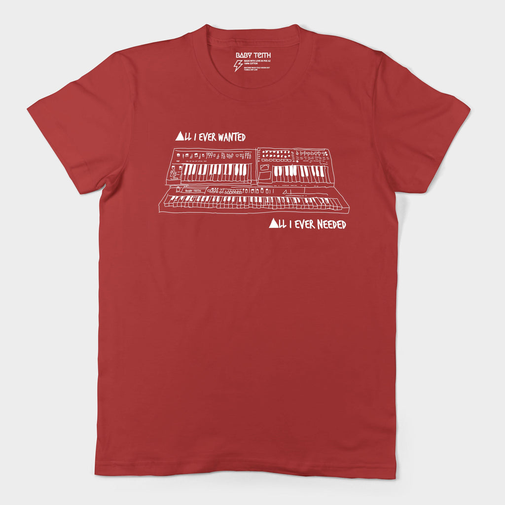 """All I Ever Wanted"" Synth Tee Inspired by Depeche Mode for Adults"