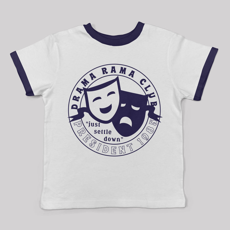 """Drama Rama Club"" Ringer Tee for Kids and Babies"