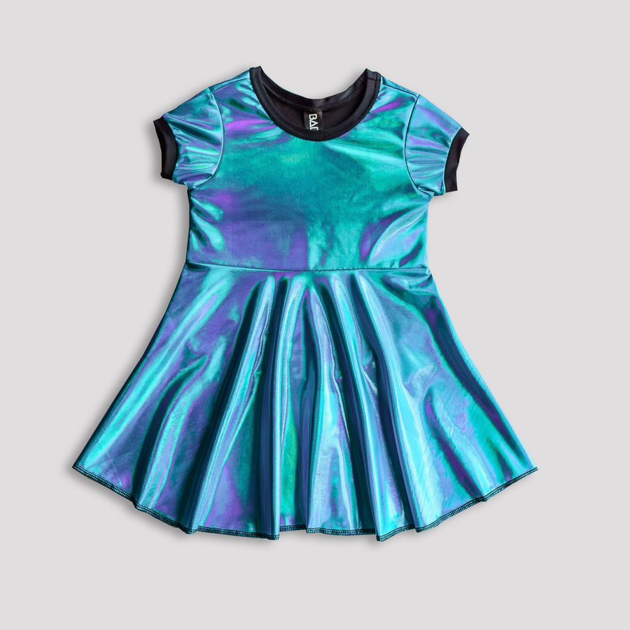 Electric Blue Holosheen Skater Dress