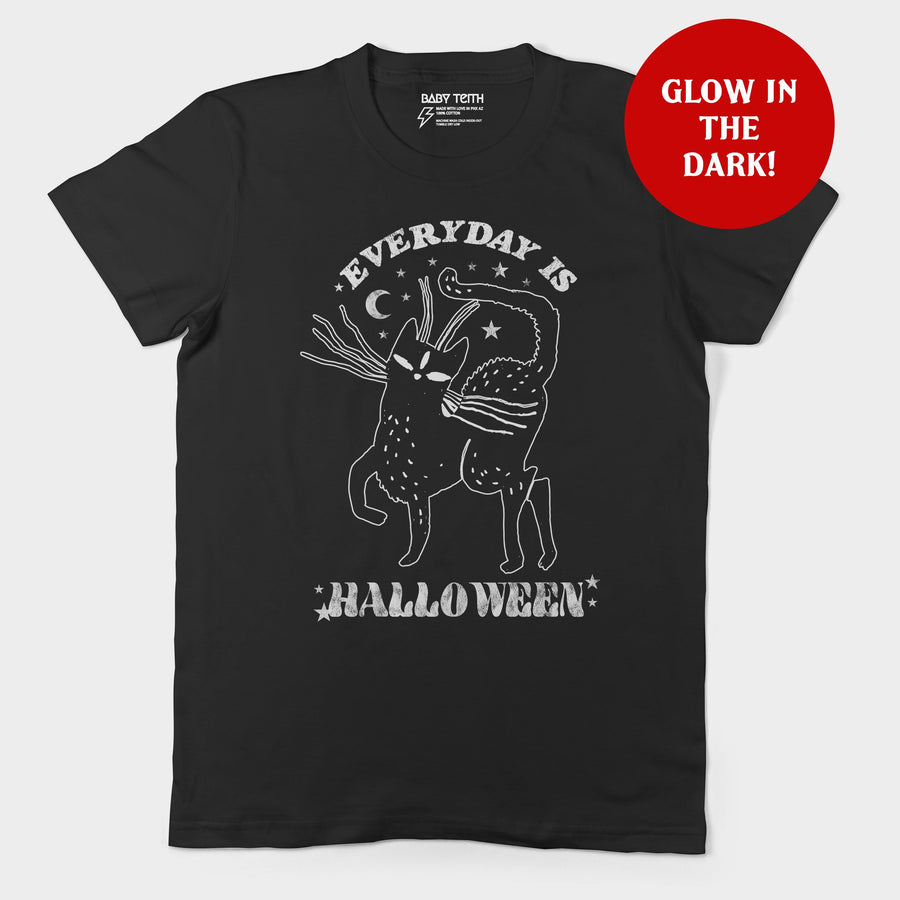 Everyday is Halloween Glow in the Dark Unisex Tee for Adults - Baby Teith