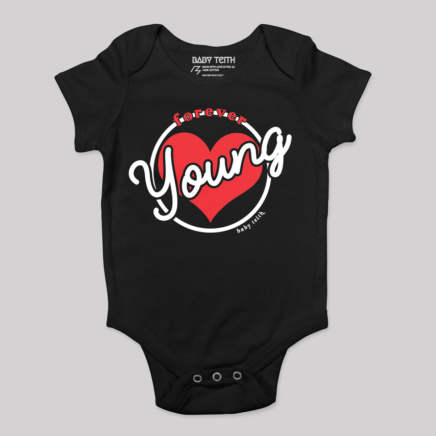 """Forever Young"" Bodysuit for Babies - Baby Teith"