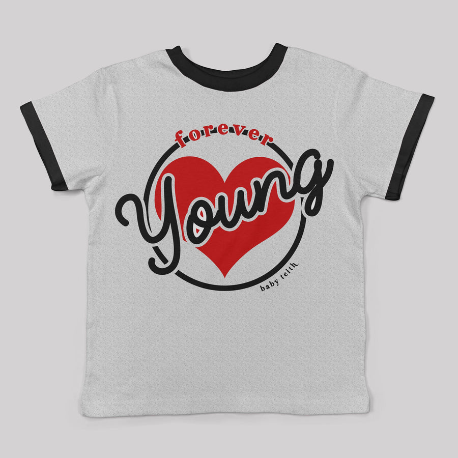 """Forever Young"" Ringer Tee for Big Kids"