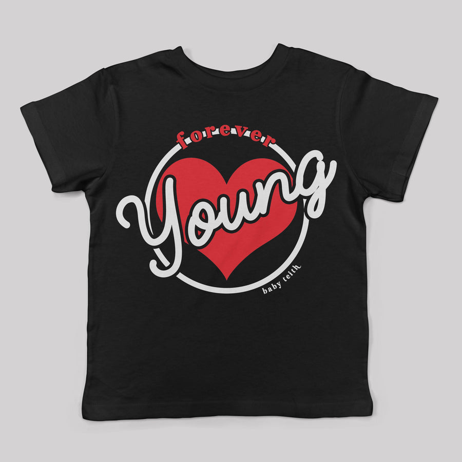 """Forever Young"" Ringer Tee for Kids"