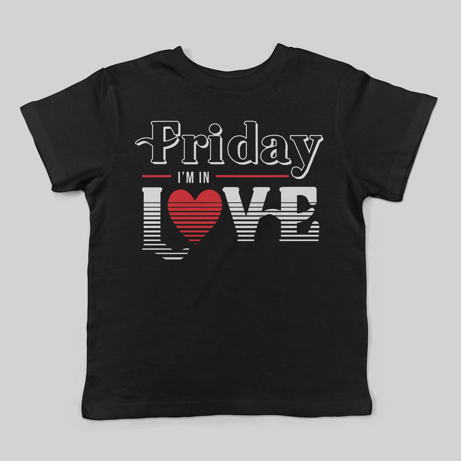 """Friday I'm In Love"" 80's Tee for Kids"