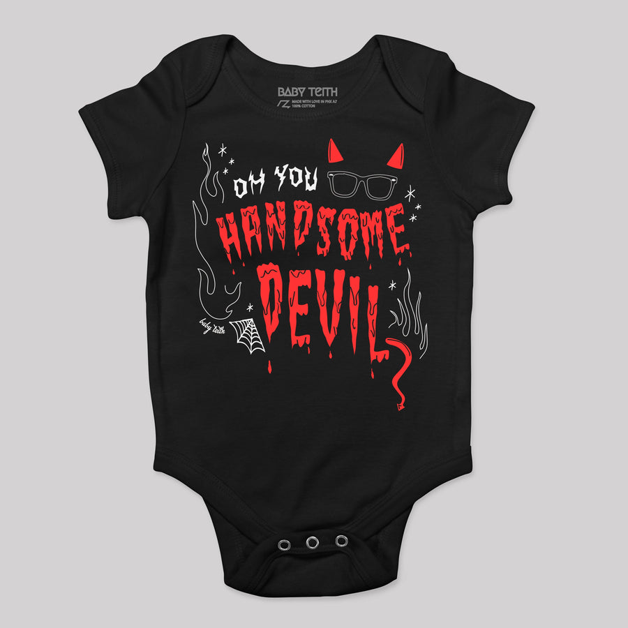 Handsome Devil Halloween Baby Bodysuit