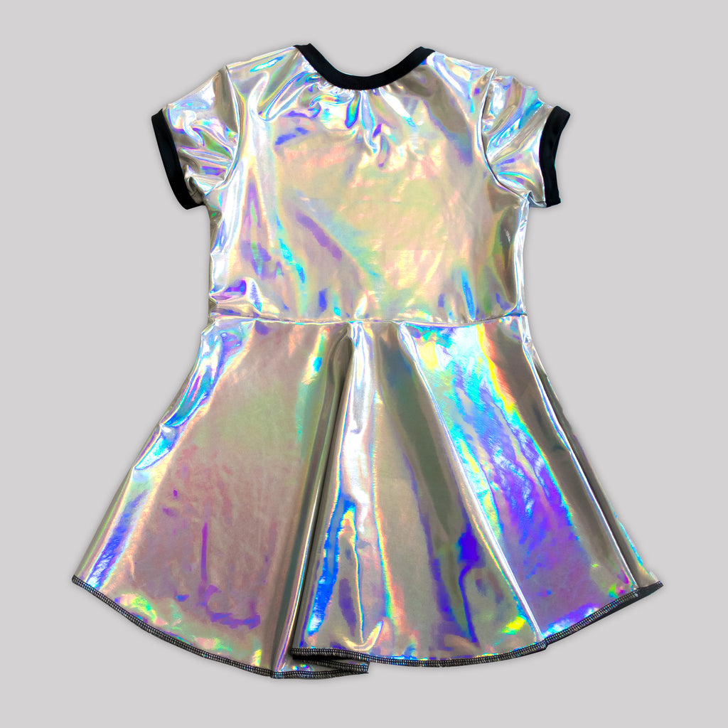 Prismatic Holosheen Skater Dress