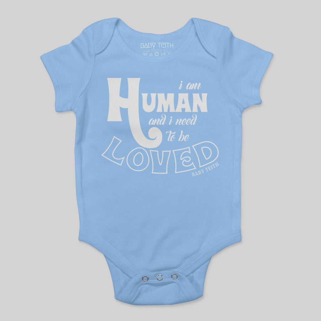 """I am Human"" Short Sleeve Baby Bodysuit"