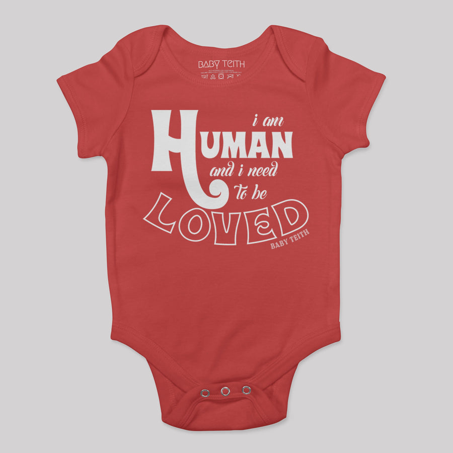 """I am Human"" Short Sleeve Baby Bodysuit (6 colors)"