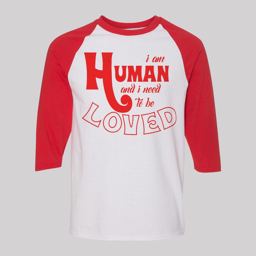 """I am Human"" Raglan Tee for Women"
