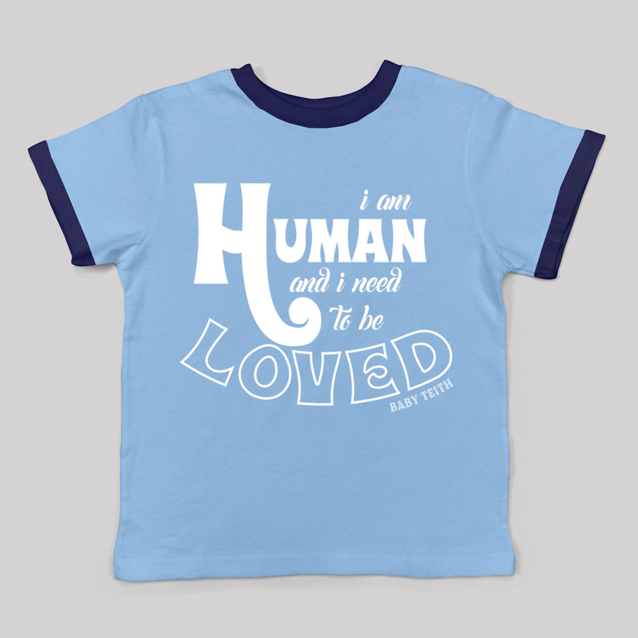 """I am Human"" Ringer Tee for Babies"