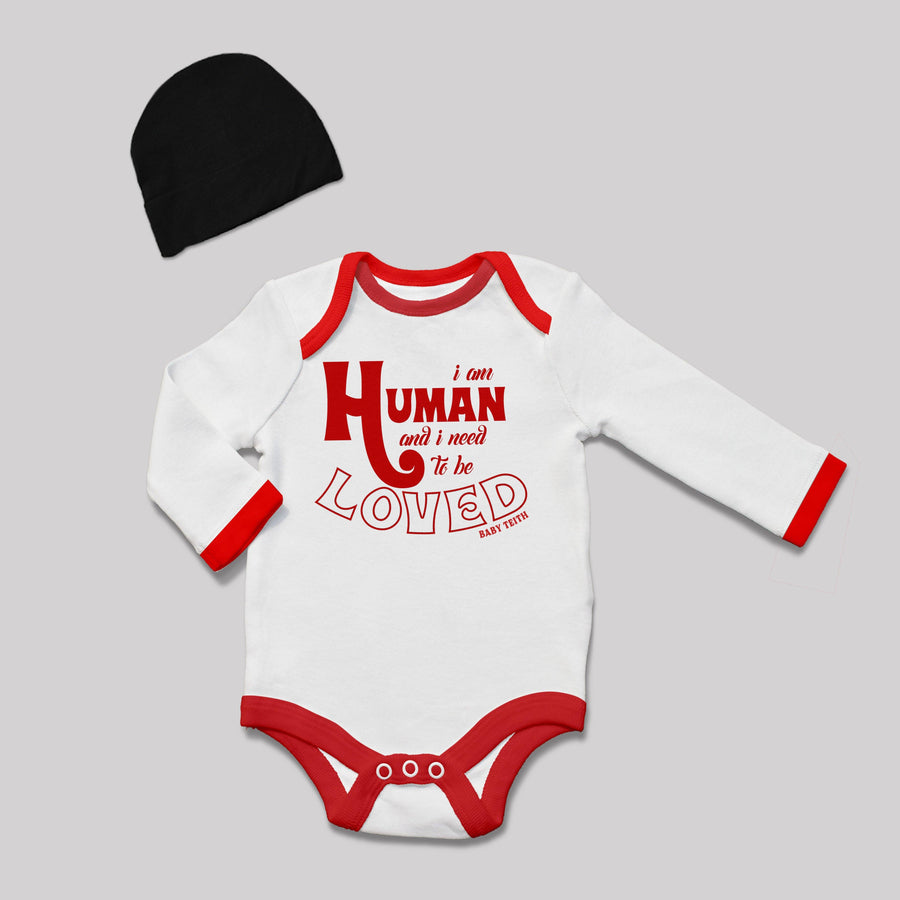 """I am Human"" Baby Bodysuit Gift Set"
