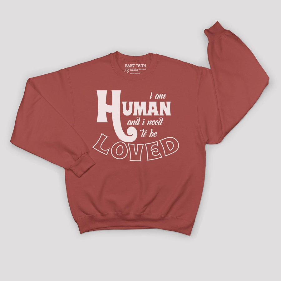 """I am Human"" Fleece Sweatshirt for Kids"