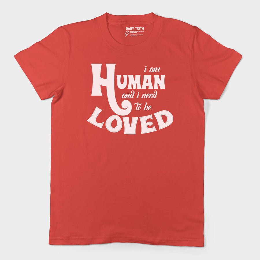 """I am Human"" Adult's Unisex Tee (5 Colors) - Baby Teith"