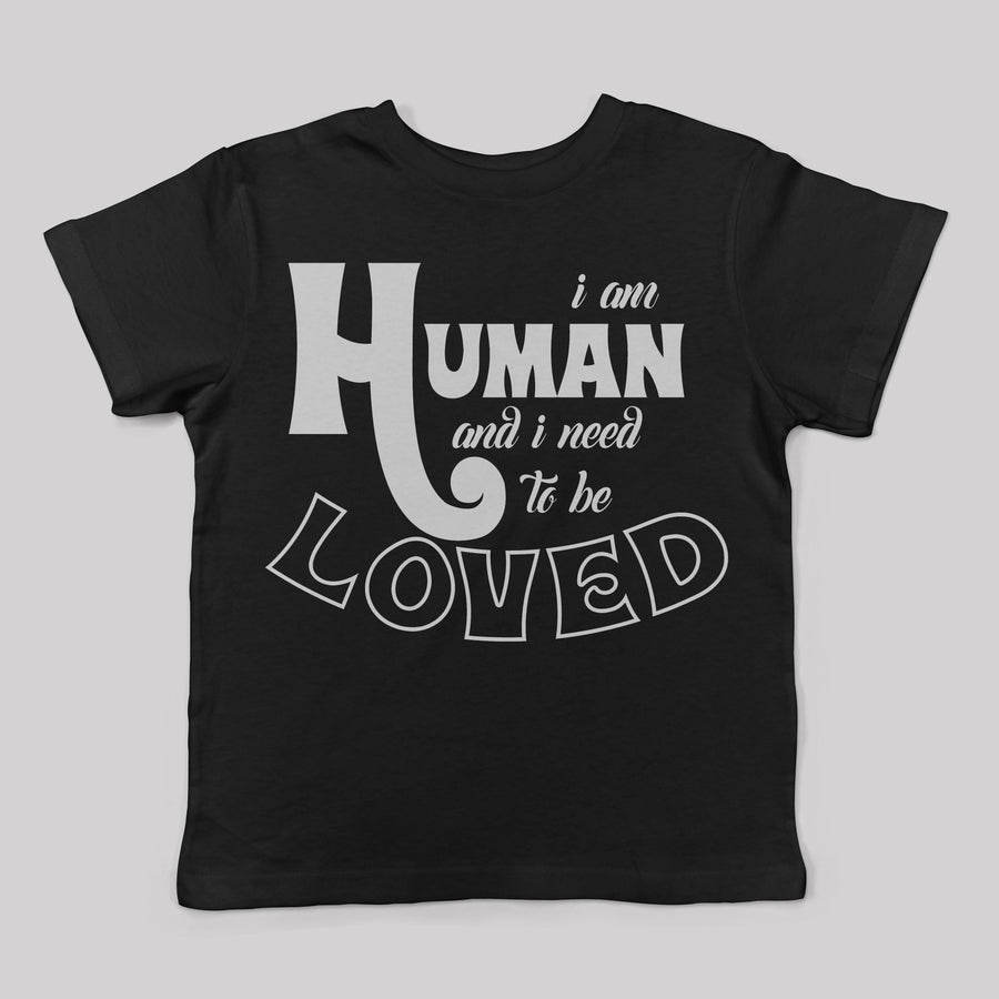 """I am Human"" Tee for Kids in Black"