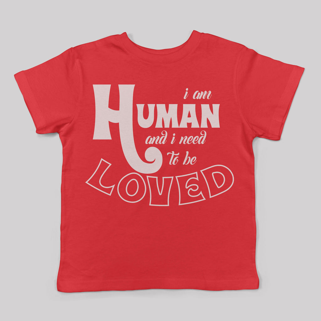 """I am Human"" Tee for Kids (5 Colors)"