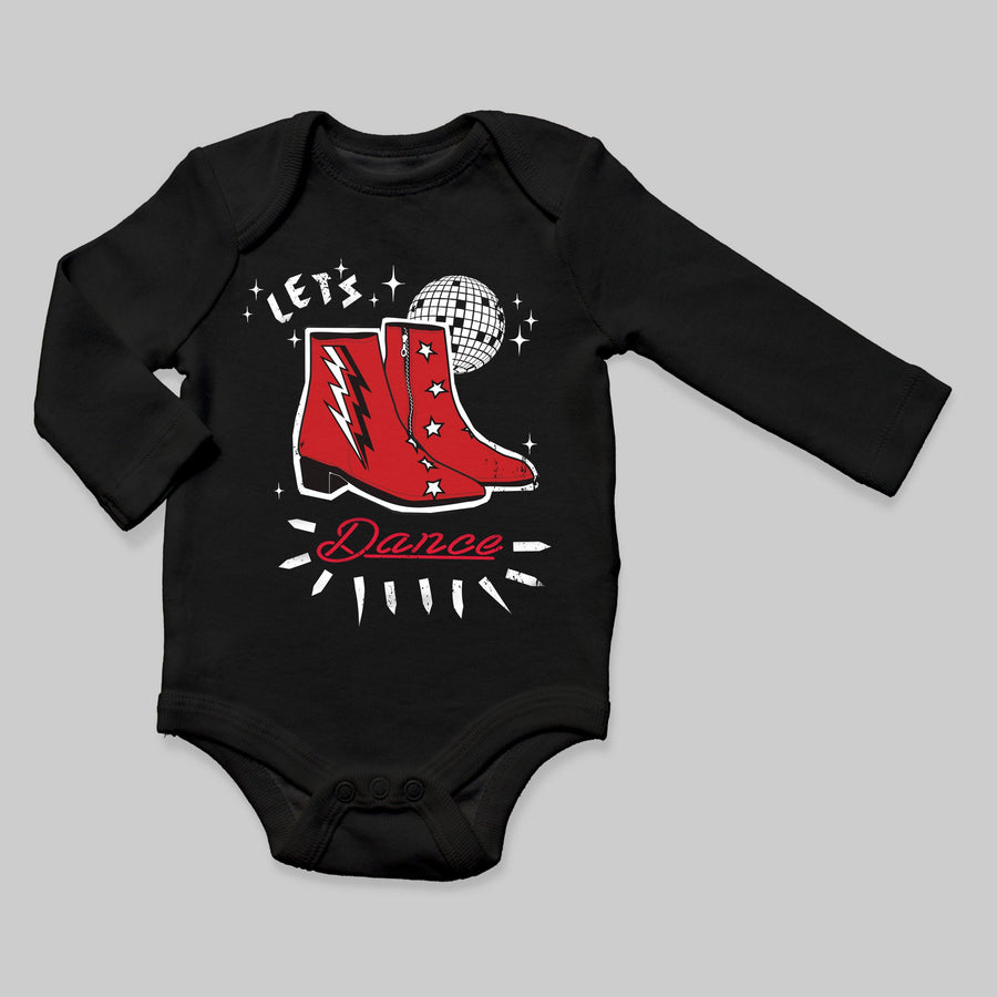 """Let's Dance"" Long Sleeve Bodysuit - Baby Teith"