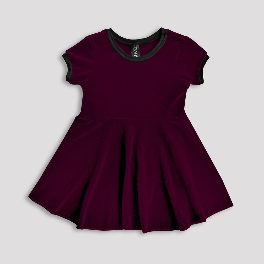 Cherry-Coloured Funk Velvet Dress (Limited Available)