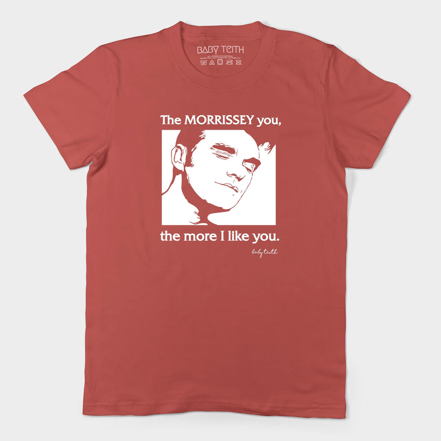 """The Morrissey You"" Tee for Adults in Red"