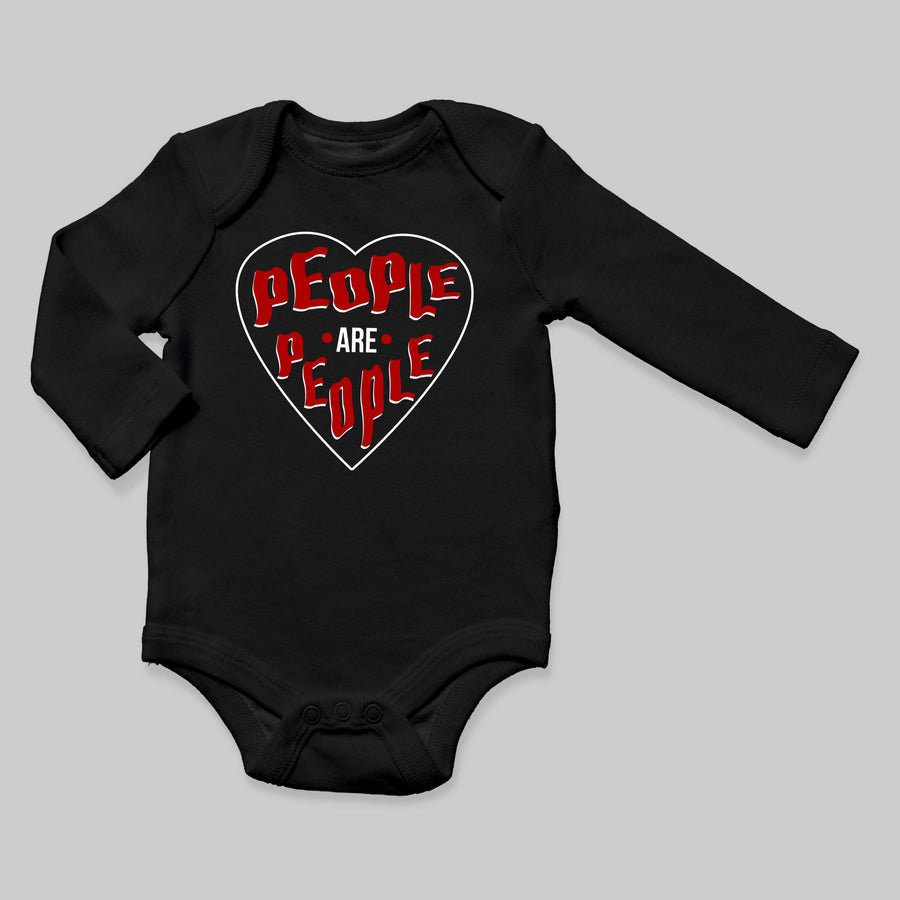 """People Are People"" Long Sleeve Baby Bodysuit"