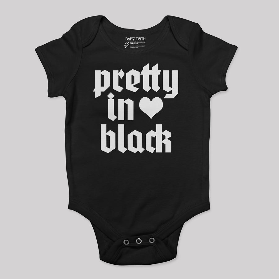 Pretty in Black Baby Bodysuit - Baby Teith