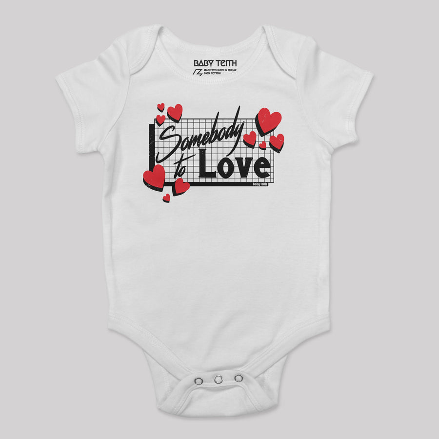 """Somebody to Love"" 80's Bodysuit for Babies"