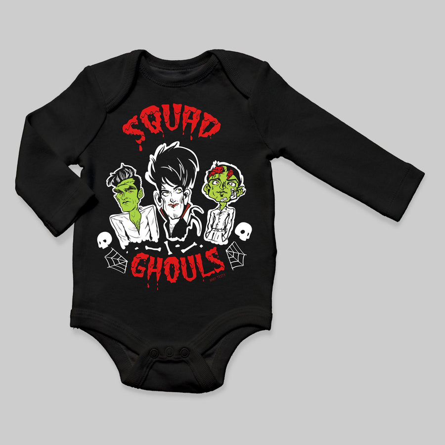 Squad Ghouls Long Sleeve Baby Bodysuit