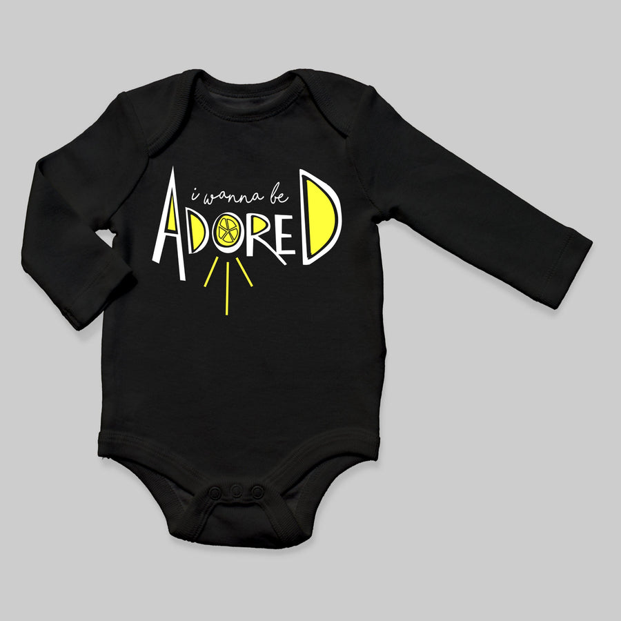 """I Wanna Be Adored"" Long Sleeve Bodysuit"