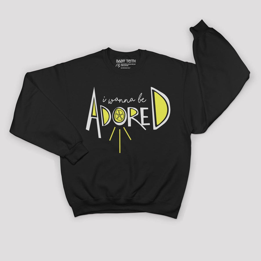 """I Wanna Be Adored"" The Stone Roses Inspired Sweatshirt for Kids - Baby Teith"